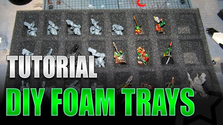 Making Miniature Foam Trays