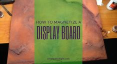 Magnetized Display Board for Miniatures