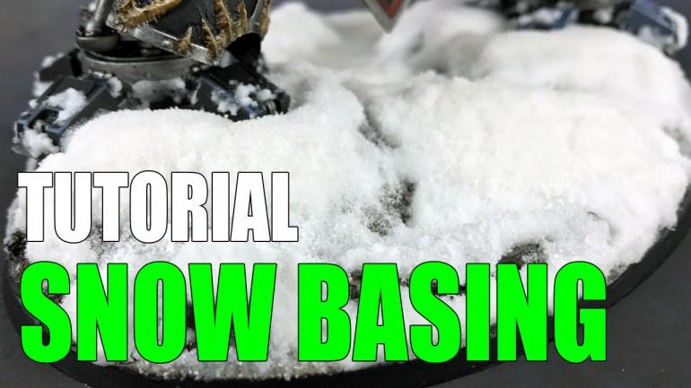Miniature Snow Bases Tutorial