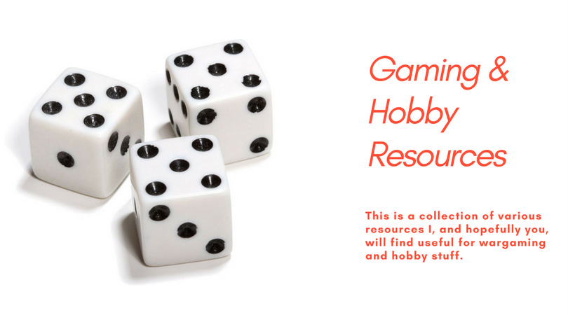 Gaming and Hobby Resources
