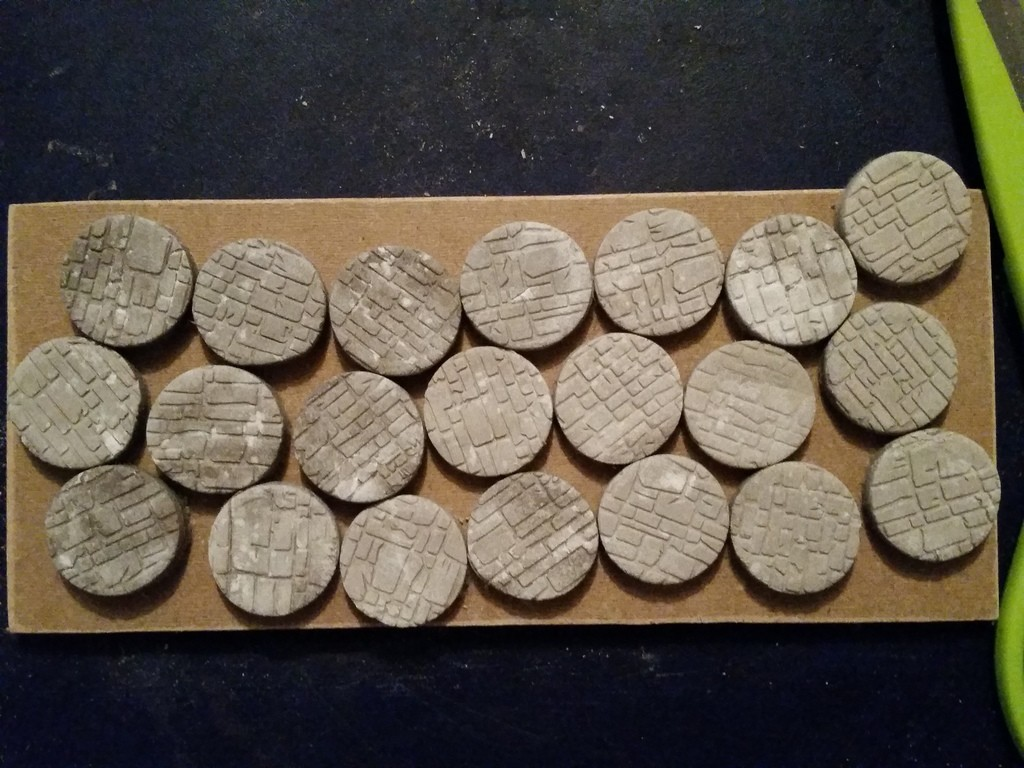 Cobblestone bases cleaned up