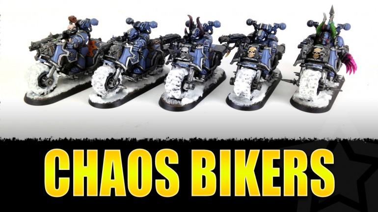Chaos Marines - Bikers Painted