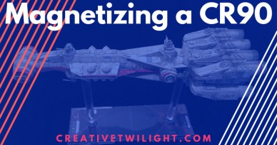 Magnetizing a CR90 Corellian Corvette – Star Wars X-Wing