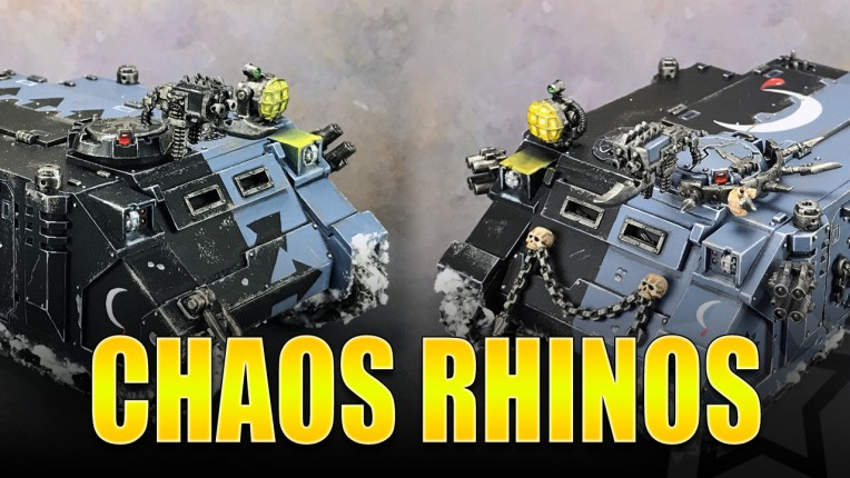 Chaos Rhinos Painted