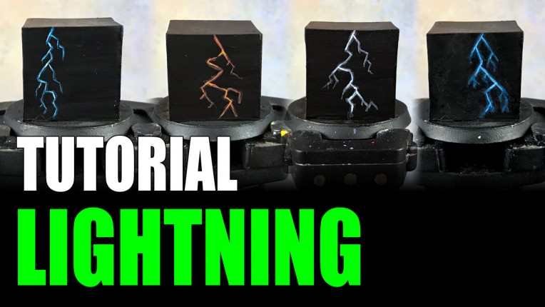 Painting Lightning on Miniatures