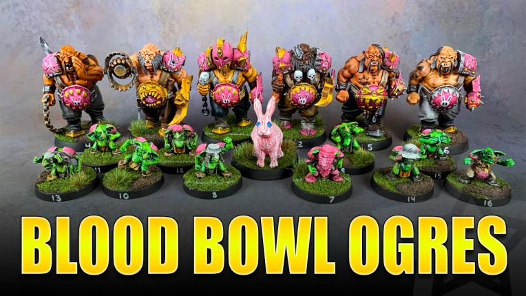 Blood Bowl Ogres Painting Showcase