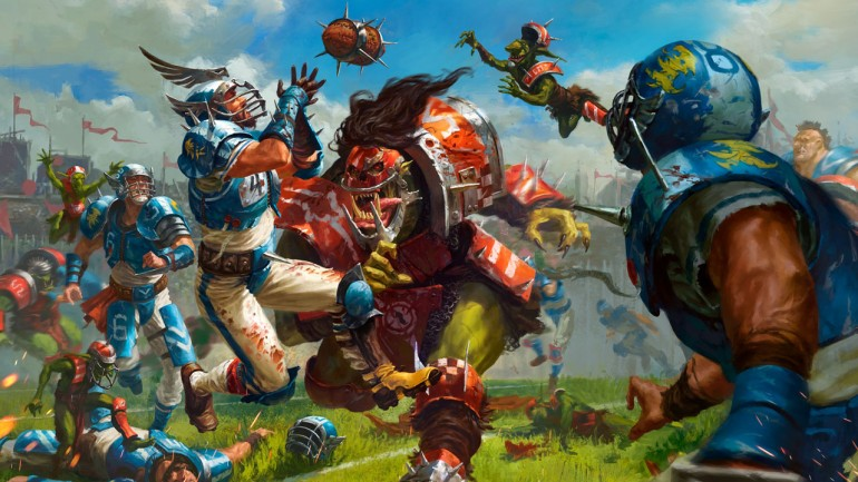 Throwing a pass can win you a game of Blood Bowl