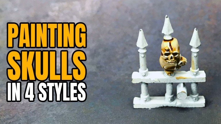 Painting Skulls for Miniatures