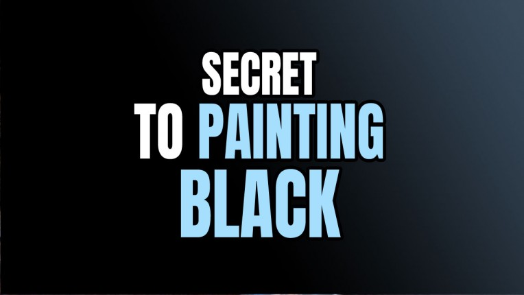 How to Paint Black on Miniatures