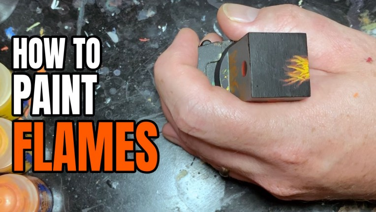 How to Paint Flames on Miniatures