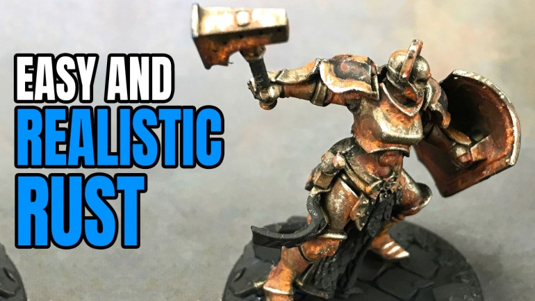 Painting Miniature Rust Effect